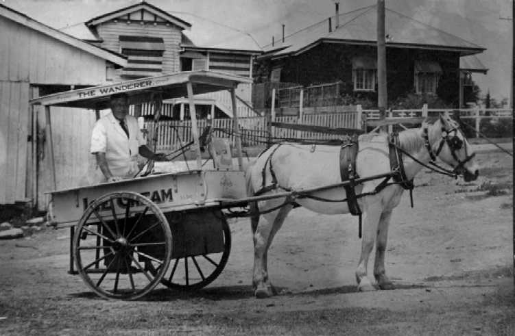 Sydney Day and his milk cart
